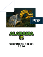 Alabama 811 Operations Report 2016