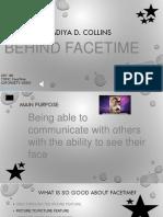 behind facetiming