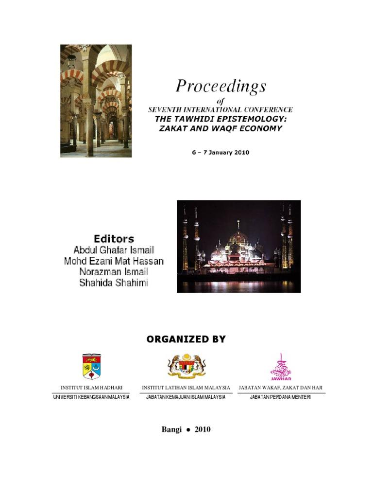 Proceedings seminar waqf tawhidipdf falsifiability theory ccuart Images