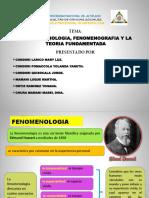 Fenomenología y  fenómenografía en la antropología