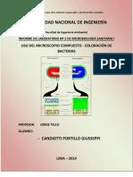 Informe Uso Del Microscopio Compuesto y Coloracion de Bacterias 2014 1