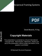 Reciprocal Frames Bowick Dave JT