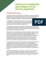 Estado Mental en La Evaluación Neuropsicológica de Los Trastornos Cognitivos