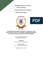 Las Estrategias de Seguridad Ciudadana y Su Relacion Con El Nivel de Participacion de La Comunidad Autoridades Municipales y Policiales Un Estudio en El Municipio de Santa Barbara