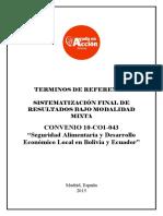 TDR Sistematización de Resultados Convenio 043_ Aprobado
