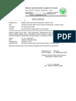 Nota Dinas Perjalanan Dinas