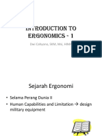 Introduction to Ergonomics - 1