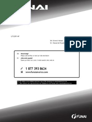 Lf320fx4f en Om | Cable Television | Set Top Box