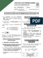 Ficha de Aplicación 2do Año- Recuperación 2014