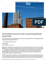 Universities Must Do More to Stop the Graduate Brain Drain _ Higher Education Network _ the Guardian