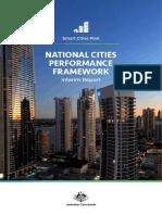 National Cities Performance Framework Interim Report