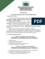 Ementa e Plano de Curso Anual SOCIOLOGIA - Ensino Médio Escola Estadual Arthur Virginio de Moura
