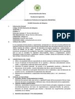Silabo Elementos de Máquina -ACREDITACION URP 2010