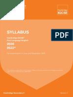 Cambridge IGCSE Syllabus