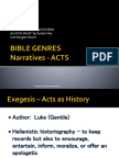Bible Genres - Acts