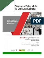 12 Programa de La Semana Estatal de Cultura Laboral 2017