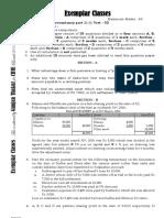 Class 12 Test 2 Accounts