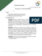 Resolución N° 1 2017-2 / JF-CCSS