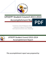 Updepp Student Council 2013 2014 Accomplishment Report