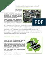1.3 Desecho de Los Dispositivos Móviles