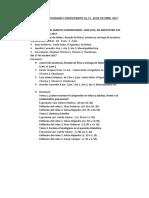 Relación de Actividades y Particp. 16, 17, 20 Octubre