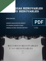 Energias Renovables y No Renovables
