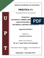 Reporte de Practica #1 - Conductores, Semiconductores y Aislantes