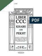 Aleister Liber CCC Khabs Am Pekht Versao 1.0