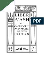 Aleister Crowley Liber 370 AASH Vel Capricorni Pneumatici Cd4 Id1089892799 Size115