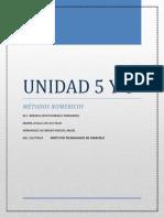 Unidad 5 y 6 Métodos numéricos