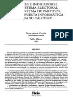 Ocaña & Oñate_Indices e indicadores del Sistema electoral y del sistema de partidos. Una propuesta informática para su cálculo - 1999