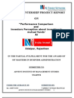 Performance Comparison and Investors Perception About Investing in Mutual Funds at NJ India Invest 2010