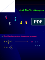 Add Maths Bloopers Presentation
