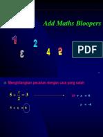 Add Maths Bloopers Presentation