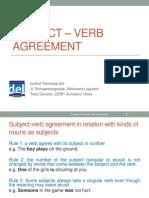 Week 03-English 2-Subject – Verb Agreement