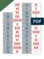 Domino Cifre Romane