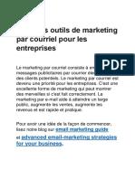 Les meilleurs outils de marketing par courriel de 2017 - Webtraffic.agency