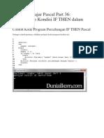 Tutorial Belajar Pascal Part 36