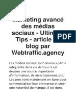 Guide ultime pour le marketing des médias sociaux | Webtraffic.agency