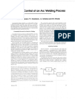 Adaptive Control of an Arc Welding Process