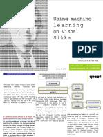 Quant Broking- Using Machine Learning on Vishal Sikka