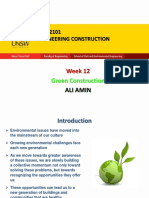 Week 12 - Green Construction