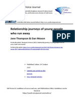 "PREVIEW Jane Thompson & Dan Moxon (2017) ""Relationship journeys of young people who run away"""