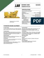 Cat 3408c Genset Spec Sheet