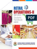 Retail Operations -XII