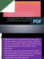 Peranan Falsafah Pendidikan Guru (FPG)
