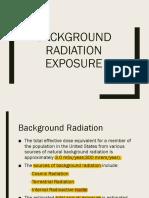 Background Radiation Exposure