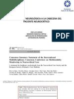 1 Valoración Neurológica a La Cabecera Del Paciente Neurocrítico