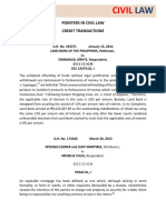 HO#13 Civil Law (Credit Transactions)