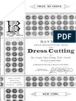 Baynes Self Instruction Book for Dress Cutting 1883